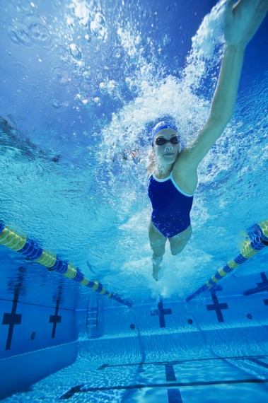 exercise, cardio, total body, swimming, laps, pool workout, intervals, free style, back stroke, breast stroke, butterfly, kick boards, core, back, legs, chest, tips from town