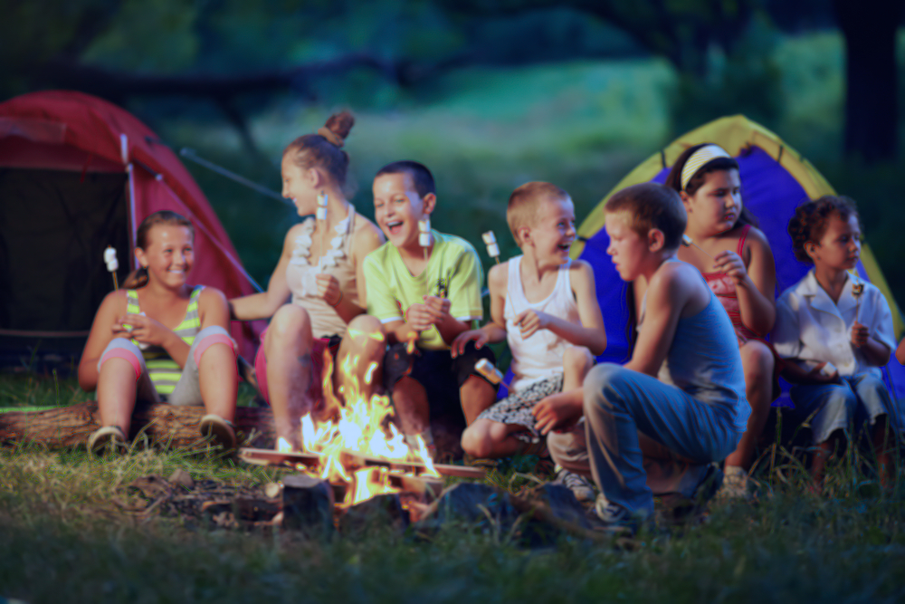 kids camping birthday party