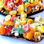 Grilled Eggplant w/Tomatoes & Feta