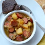 Hearty Oktoberfest Lager & Sausage Stew