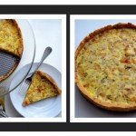 Caramelized Pear & Gorgonzola Quiche