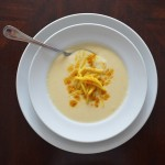 Cauliflower Soup w:Curried Apple