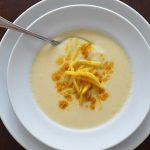 Cauliflower Soup w/Curried Apple