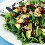 Cranberry-Avocado Salad w/Candied Spiced Almonds