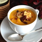 Roasted Squash Soup w/Maple-Glazed Bananas