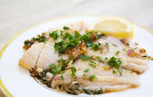 Baked Fish w:Citrus Butter Sauce