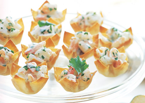 shrimp salad in wonton cups recipe yummly mango curry shrimp salad ...