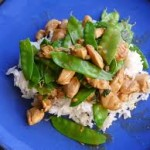 Green-Curry Chicken w/Snow Peas & Basil