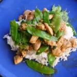 Green-Curry Chicken w/Snow Peas & Basil