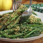 Lemony Green Beans w:Almond Breadcrumbs