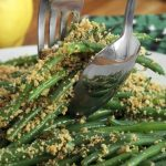 Lemony Green Beans w/Almond Breadcrumbs