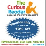 DEAL: 10% Off @ The Curious Reader in Glen Rock