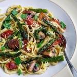 Roasted Asparagus & Mushroom Carbonara