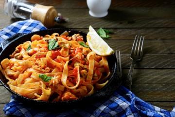 Italian dinner, pasta, Marie's