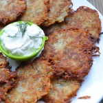 Potato Latkes with Apple & Sour Cream