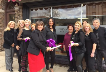 Ribbon-cutting ceremony at Privado.