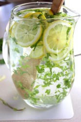 Spa Day Water with lemon