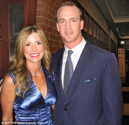 Peyton and Ashley Manning