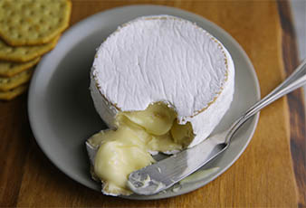 Their Camembert (bloomy rind) cheese is made from unhomogenized whole milk and is produced in the Hudson Valley Region of NY.