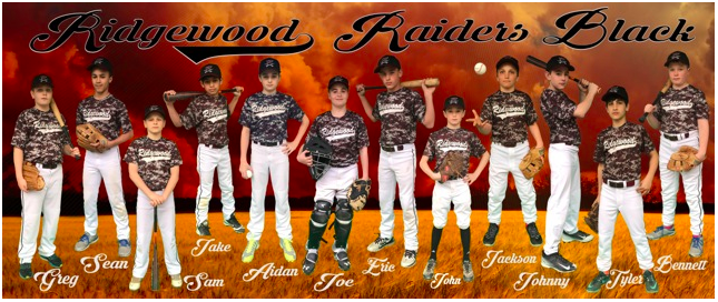 boys U12 baseball team