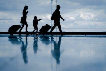 walking in airport, air travel
