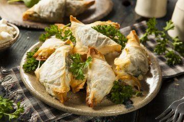 Spanakopita Greek food