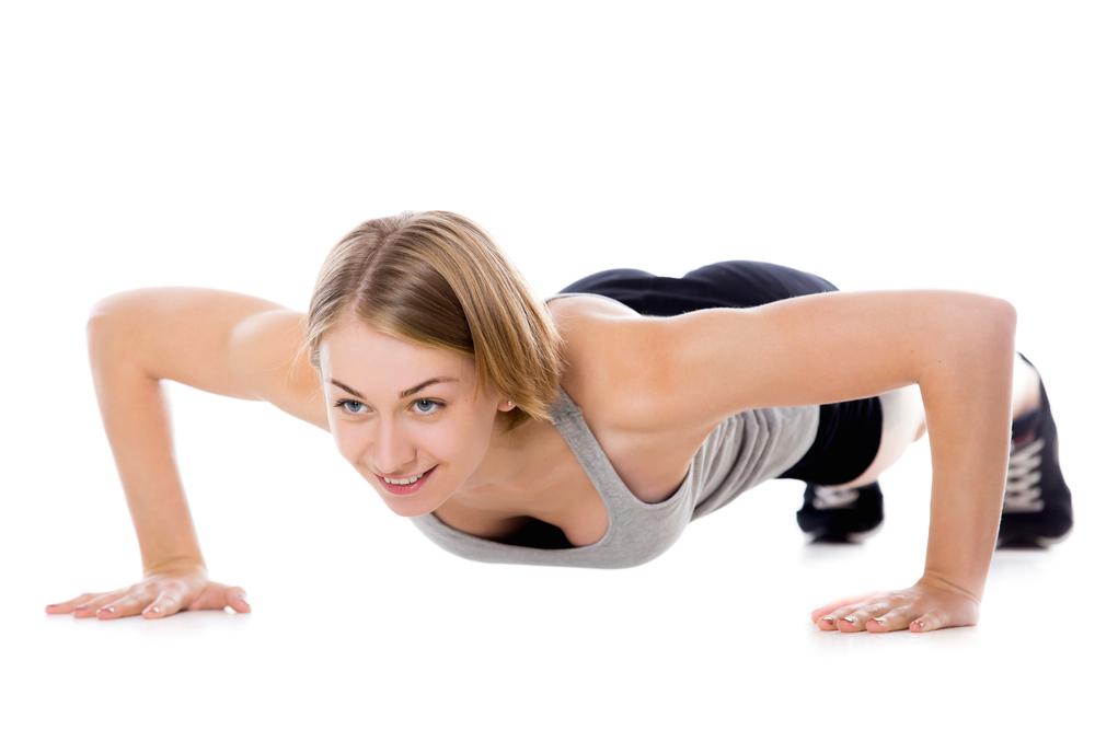 girl doing push up