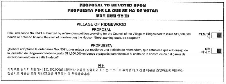 garage vote