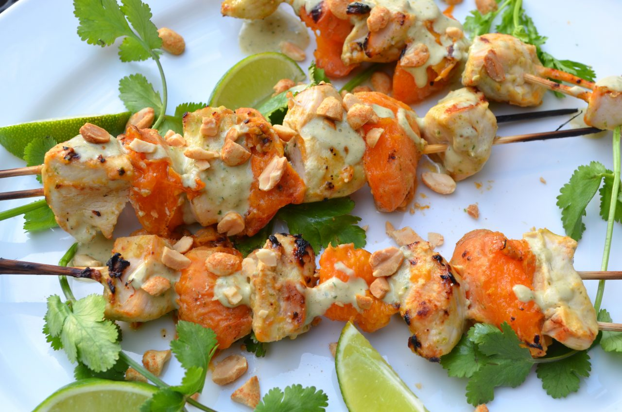 Chicken-Apricot Skewers | Tips From Town