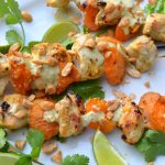 Thai-Inspired Chicken-Apricot Skewers