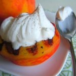 Grilled Peaches w/Bourbon Vanilla Whipped Cream