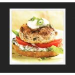 Open-Face Chicken Burgers w/Basil Mayonnaise