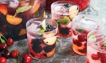Blueberry-Plum Vodka Mojitos 2