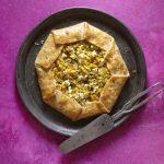 Fresh Corn Galette w/Zucchini, Thyme, & Goat Cheese