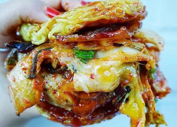 Ramen Fried Chicken Burger