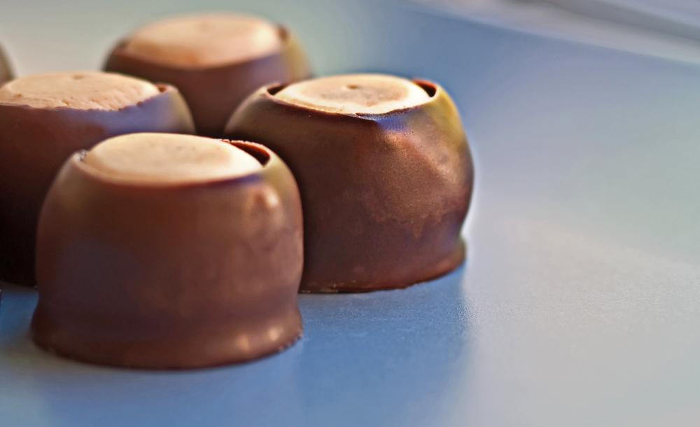 christmas cookies chocolate buckeyes