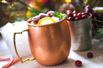 moscow mule holiday cocktails copper mug