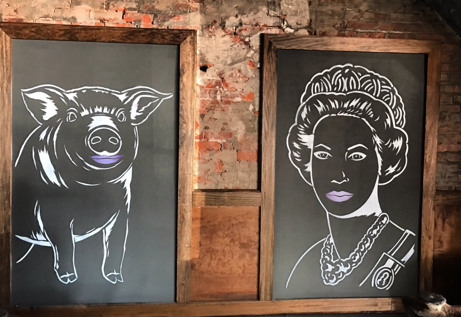 pig and queen