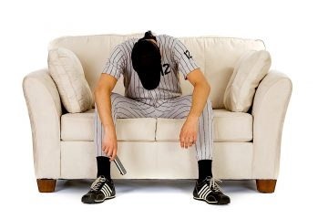 how sports are like relationships guy couch baseball