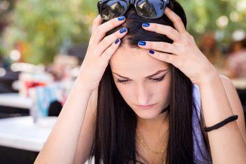 stressed depressed teen