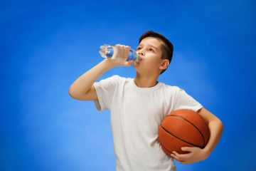 boy drinking water kid
