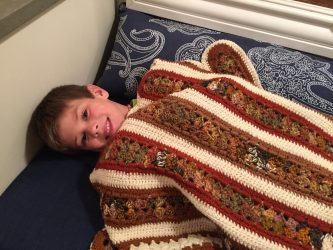 Thank You Valley Volunteers: Charlie Loves His New Blanket