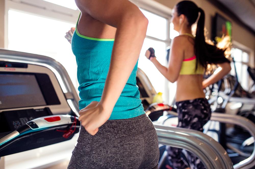 that's it, woman on treadmill