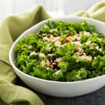 Kale Salad With Avocado, Pecans, Quinoa and Pomegranate Arils