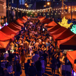 A Colorful Market Under the Stars