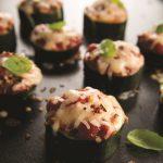 Zucchini-Bottomed Pizza Bites