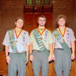 3 Ridgewood Scouts Earn the Eagle Badge of Honor