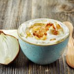 Low Fat Pan-Fried Onion Dip