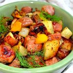 Potato, Red Pepper & Sausage Roast