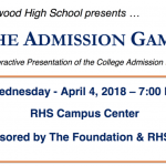 The Admission Game at RHS